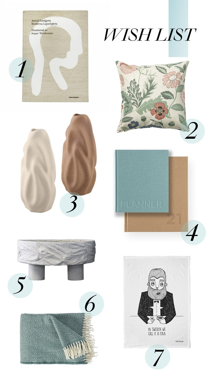 A collection of products to add to your wish list this year from Swedish brands and Scandic design in Sweden
